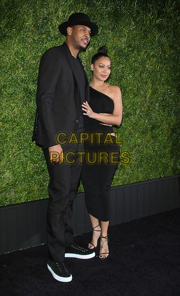 04 18 2016: Carmelo Anthony, La La Anthony at 11th Annual Chanel Tribeca Film Festival Artists Dinner at t Balthazar in New York. <br /> CAP/MPI/RW<br /> &copy;RW/MPI/Capital Pictures