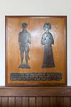 Church of Saint Lawrence, Knodishall, Suffolk, England, UK brass memorial John Jenney and wife Maud or Matlida Bokill death circa 1460