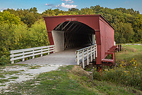 The Roseman Covered Bridge is a historic covered bridge in Winterset, Iowa. It is prominently featured in the novel The Bridges of Madison County, as well as its film adaptation. It was built in 1883 over the Middle River, and renovated in 1992. It was added to the National Register of Historic Places in 1976.