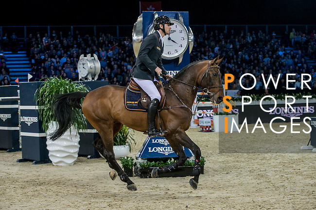 Gregory Wathelet of Belgium riding Eldorado van het Vijverhof competes during the Longines Grand Prix, part of the Longines Masters of Hong Kong on 12 February 2017 at the Asia World Expo in Hong Kong, China. Photo by Marcio Rodrigo Machado / Power Sport Images
