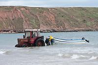 Fishing boat, Filey, North Yorkshire.