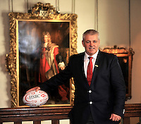 Lions 2013.  Warren Gatland, who has been appointed head coach of the British and Irish Lions for the tour to Australia in 2013 poses at Ironmonger's Hall on September 4, 2012 in London, England.