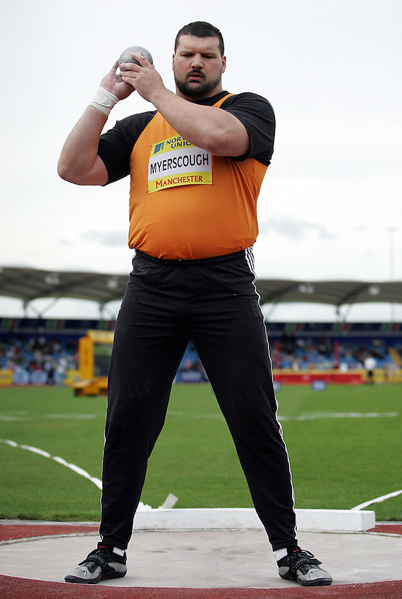 Photo: Paul Thomas/Richard Lane Photography..Norwich Union World Trials and AAA Championships. 28/07/2007...Carl Myerscough during the men's shot put.