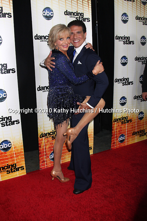 LOS ANGELES - SEP 20:  Florence Henderson & Corky Ballas at the Season 11 Premiere of Dancing with the Stars at CBS Television CIty  on September 20, 2010 in Los Angeles, CA