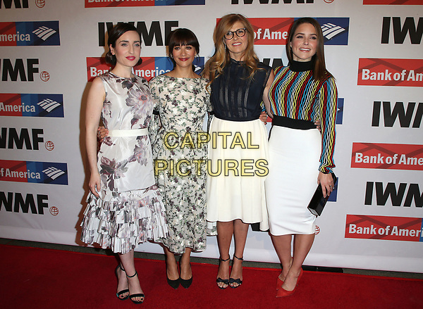 25 October 2017 - Hollywood, California - Zoe Lister-Jones, Rashida Jones, Connie Britton, Sophia Bush. International Women's Media Foundation 2017 Courage in Journalism Awards. <br />  <br />  <br /> &copy;BT/ADM/Capital Pictures<br /> <br /> <br /> CAP/ADM/FS<br /> &copy;FS/ADM/Capital Pictures