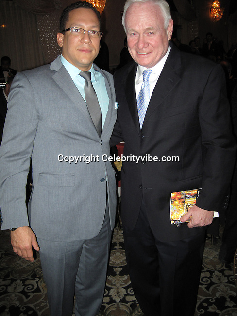 **EXCLUSIVE**.Gils Aubry..Tommy Belisis CEO of John Thomas Financial receives Man of The Year for leadership and services from Michael Bloomberg..Fundraiser for Mike Bloomberg Campaign..Villa Veron Manor..Bronx, NY, USA..Thursday, October 22, 2009..Photo By Celebrityvibe.com.To license this image please call (212) 410 5354; or Email: celebrityvibe@gmail.com ; .website: www.celebrityvibe.com.