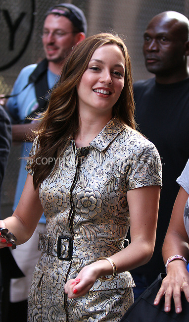 WWW.ACEPIXS.COM . . . . . ....June 29 2009, New York City....Actress Leighton Meester on the set of 'Gossip Girl' as filming begun for season three in Manhattan on June 29, 2009 in New York City....Please byline: AJ SOKALNER - ACEPIXS.COM.. . . . . . ..Ace Pictures, Inc:  ..tel: (212) 243 8787 or (646) 769 0430..e-mail: info@acepixs.com..web: http://www.acepixs.com
