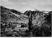 Slightly elevated view of Telluride, CO looking northeast.<br /> RGS  Telluride, CO  1938
