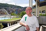 LAUREUS WORLD SPORTS AWARDS 2013, RIO DE JANEIRO, BRAZIL..VISIT TO COMPLEXO ESPORTIVO DA ROCINHA, A SLUM DEVELOPMENT..SIR BOBBY CHARLTON..11-3-2013 PIC BY IAN MCILGORM