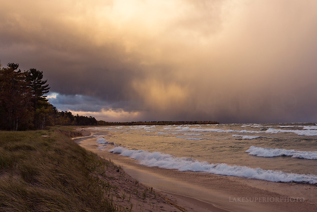 Autumn, Lake Superior, lake effect snow, gales