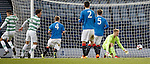 Mark Hill's shot goes past Rangers keeper Robbie McCrorie for goal no 2