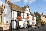 Historic cottages and houses Church Walk, Melksham, Wiltshire, England, UK