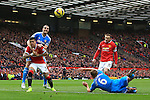 Wayne Rooney of Manchester United sends an early header wide - Manchester United vs. Sunderland - Barclay's Premier League - Old Trafford - Manchester - 28/02/2015 Pic Philip Oldham/Sportimage
