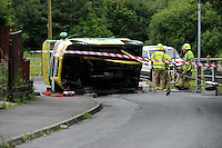 2016 06 30 Ice-cream van overturns in Swansea, UK