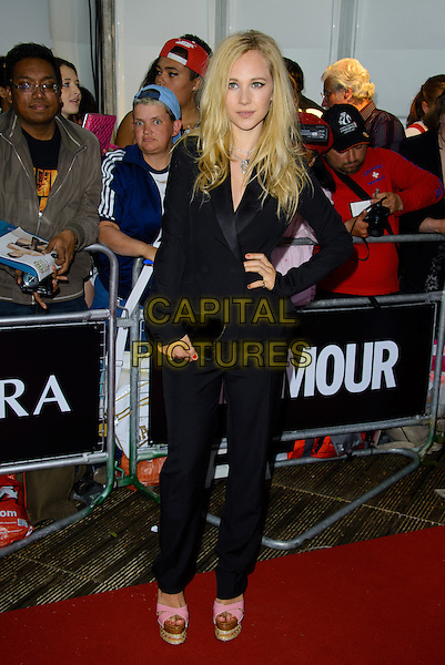 Juno Temple<br /> The Glamour Women Of The Year Awards 2013, Berkeley Square Gardens, London, England.<br /> June 4th, 2013<br /> full length black blazer trousers suit hand on hip pink platform shoes <br /> CAP/CJ<br /> &copy;Chris Joseph/Capital Pictures