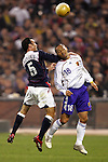 10 February 2006: Kerry Zavagnin (5), of the United States, and Japan's Shinji Ono (18) challenge for a header. The United States Men's National Team defeated Japan 3-2 at SBC Park in San Francisco, California in an International Friendly soccer match.