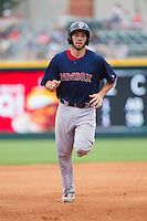 Blake Swihart (2) of the Pawtucket Red Sox rounds the bases after hitting a home run against the Charlotte Knights at BB&T Ballpark on August 8, 2014 in Charlotte, North Carolina.  The Red Sox defeated the Knights  11-8.  (Brian Westerholt/Four Seam Images)