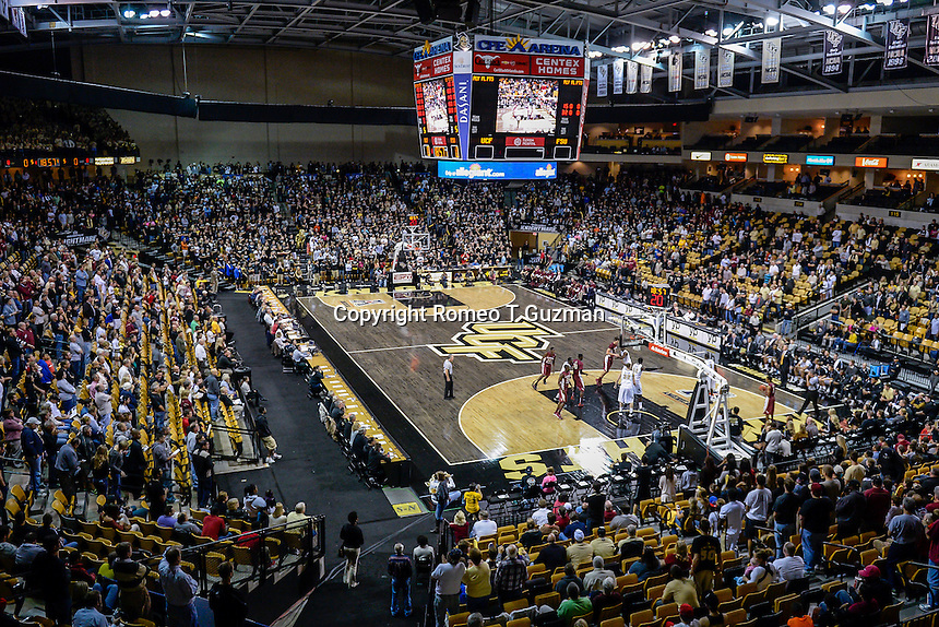 November 13, 2013 - Orlando, FL, U.S: CFE Arena during 1st half mens NCAA basketball game action between the Florida State Seminoles and the UCF Knights at the CFE Arena in Orlando, Fl.