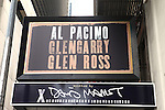 Theatre Marquee unveiled for David Mamet's Glengarry Glen Ross starring Al Pacino  & Bobby Cannavale in this production from director Daniel Sullivan at the  Schoenfeld Theatre, New York City on 9/21/2012.