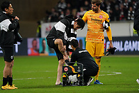 Daichi Kamada (Eintracht Frankfurt) mit Bandage am Fuss - 20.02.2020: Eintracht Frankfurt vs. RB Salzburg, UEFA Europa League, Hinspiel Round of 32, Commerzbank Arena DISCLAIMER: DFL regulations prohibit any use of photographs as image sequences and/or quasi-video.
