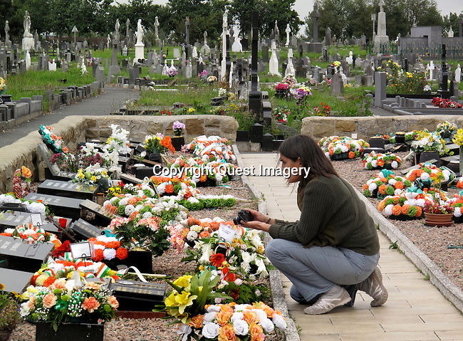 A view of the 'new' Republican plot at Milltown Cemetery in Belfast, Northern Ireland.  <br />