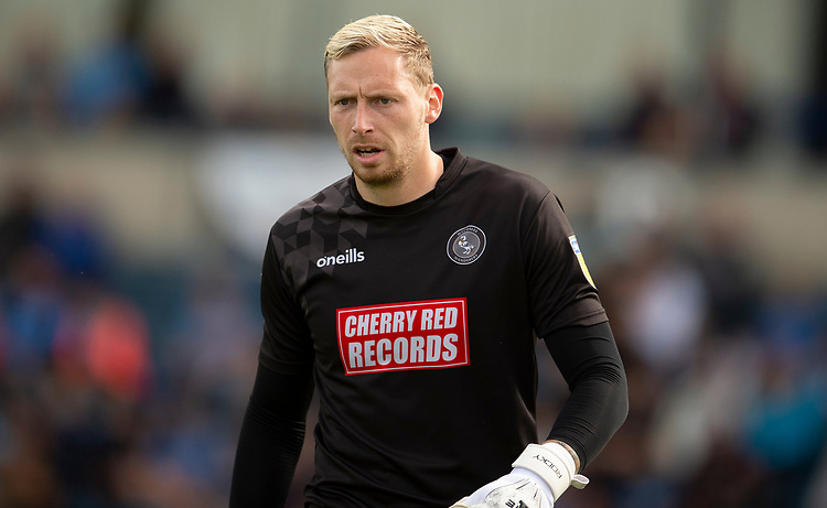 Wycombe Wanderers' Ryan Allsop<br /> <br /> Photographer Andrew Vaughan/CameraSport<br /> <br /> The EFL Sky Bet League One - Wycombe Wanderers v Lincoln City - Saturday 7th September 2019 - Adams Park - Wycombe<br /> <br /> World Copyright © 2019 CameraSport. All rights reserved. 43 Linden Ave. Countesthorpe. Leicester. England. LE8 5PG - Tel: +44 (0) 116 277 4147 - admin@camerasport.com - www.camerasport.com