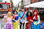 Kimberly Harris, Robyn O'Callaghan, Tom Heuston, Clodagh Harrington and Lisa Tobin at Tralee food festival in the Square on Saturday.