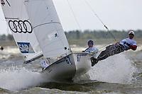 470 Man. Medemblik - the Netherlands, May 24th 2011. Delta Lloyd Regatta in Medemblik (26/30 May 2011). Day 1.