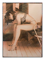 """Size 27.5"""" x 19.5""""<br /> <br /> This is a 'one off' print using sensitized gum arabic and watercolor, a 19th. century photographic process. The print is on watercolor paper and is completely archival<br /> Each print can take up to four days to produce.<br /> This print is unique due to the process involved. I may however, produce the same basic image but with a different set of colors, though no more than ten examples.<br /> <br /> Prices on request"""