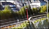 BNPS.co.uk (01202 558833)<br /> Pic:  PooleStadiumLimited/BNPS<br /> <br /> The house shortly after the blast.  A still image from CCTV footage of the blast as seen from a camera on Poole Stadium.<br /> <br /> A vengeful husband who almost killed himself and his ex-wife when he blew up their house out of spite is due to be sentenced today.<br /> <br /> Ian Clowes, 67, has previously pleaded guilty to a charge of arson in connection with the huge gas explosion that ripped apart the semi-detached property in Poole, Dorset, last October.
