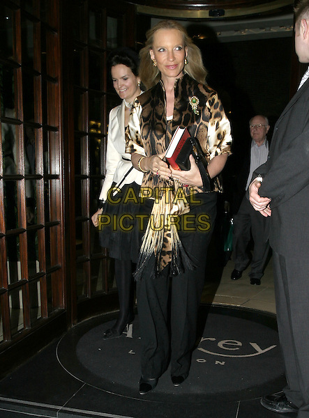 PRINCESS MICHAEL OF KENT.At the book launch party of Santa Montefiore, Asprey London, New Bond Street, London, April 12th 2005..full length leopard print top jacket royal royalty.Ref: AH.www.capitalpictures.com.sales@capitalpictures.com.©Adam Houghton/Capital Pictures.