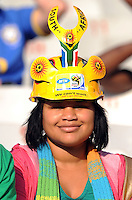 A local fan. Brazil defeated USA 3-0 during the FIFA Confederations Cup at Loftus Versfeld Stadium in Tshwane/Pretoria, South Africa on June 18, 2009.