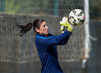 Lagos, Portugal - Februrary 25, 2015:  The USWNT practices during their preparation for the Algarve Cup in Lagos, Portugal.