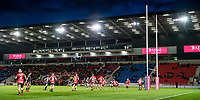 Picture by Allan McKenzie/SWpix.com - 26/04/2018 - Rugby League - Betfred Super League - Salford Red Devils v St Helens - AJ Bell Stadium, Salford, England - A general view, gv, of Salford playing St Helens at the AJ Bell stadium.