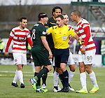 Scott Brown and Mikael Antoine-Curier have some aggro as referee Steven McLean steps in