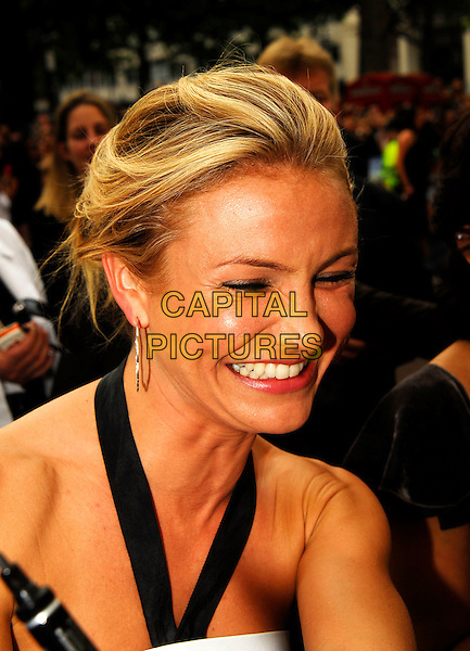 "CAMERON DIAZ.Attending the UK Premiere of ""Shrek The Third"",.Odeon Leicester Square, London, England,.June 11th 2007..portrait headshot funny face smiling laughing.CAP/IA.©Ian Allis/Capital Pictures"