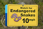 sign concerning San Francisco Garter snakes