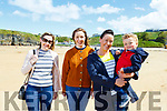 Enjoying the day on Ballybunion beach on Sunday<br /> L to r: Clare O'Leary (Mallow), Aoife Healy (Mallow), Ann Marie and Michael Hartnett (Listowel)