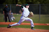 Eastern Michigan Eagles relief pitcher John Holt (18) delivers a pitch during a game against the Dartmouth Big Green on February 25, 2017 at North Charlotte Regional Park in Port Charlotte, Florida.  Dartmouth defeated Eastern Michigan 8-4.  (Mike Janes/Four Seam Images)