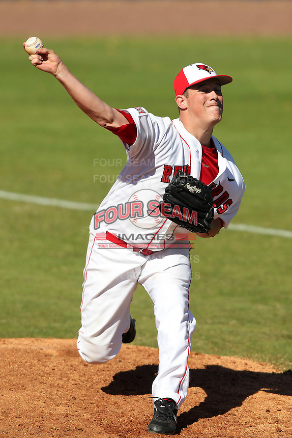 Illinois State Redbirds pitcher Cam Verbeke #24 during a game vs. the Ohio State Buckeyes at Chain of Lakes Park in Winter Haven, Florida;  March 11, 2011.  Illinois defeated Ohio State 12-1.  Photo By Mike Janes/Four Seam Images