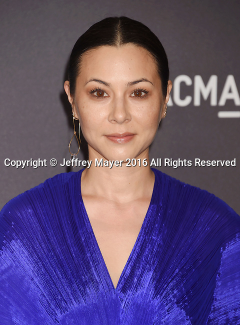 LOS ANGELES, CA - OCTOBER 29: Actress China Chow attends the 2016 LACMA Art + Film Gala honoring Robert Irwin and Kathryn Bigelow presented by Gucci at LACMA on October 29, 2016 in Los Angeles, California.
