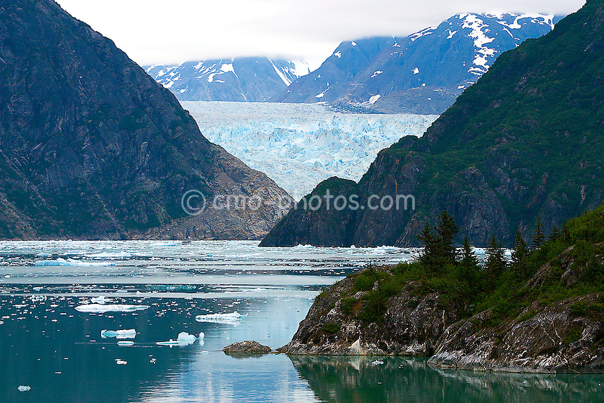 The Sawyer Glacier at the end of the Tracy Arm Fjord in southeast Alaska