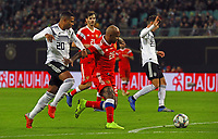 Serge Gnabry (Deutschland Germany) gegen Ferreira Ari (Russland, Russia) - 15.11.2018: Deutschland vs. Russland, Red Bull Arena Leipzig, Freundschaftsspiel DISCLAIMER: DFB regulations prohibit any use of photographs as image sequences and/or quasi-video.