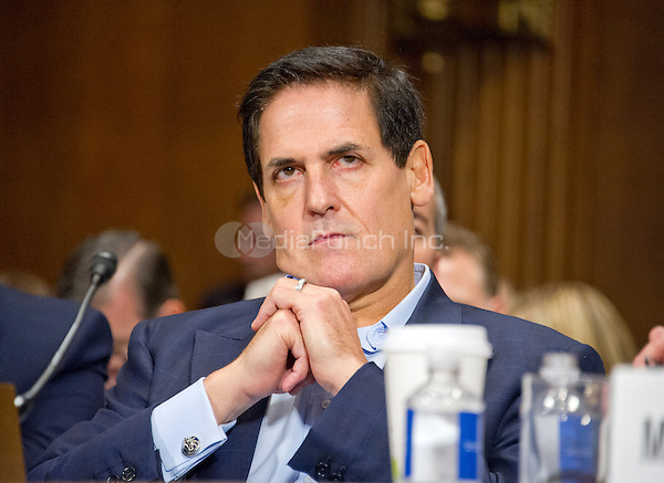 "Mark Cuban, Chairman, AXS TV, Owner<br /> Dallas Mavericks, Landmark Theatres, and Magnolia Pictures appears before the United States Senate Committee on the Judiciary Subcommittee on Antitrust, Competition Policy & Consumer Rights to give testimony during the hearing ""Examining the Competitive Impact of the AT&T-Time Warner Transaction"" on Capitol Hill in Washington, DC on Wednesday, December 7, 2016.<br /> Credit: Ron Sachs / CNP /MediaPunch"