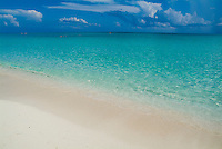 Beautiful transparent water and white sand beach, Cayo Santa-Maria, Cuba.
