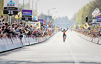 Philippe Gilbert (BEL/Quick Step floors) solo's towards victory in the 101th Ronde Van Vlaanderen 2017 (1.UWT)<br /> <br /> 1day race: Antwerp › Oudenaarde - BEL (260km)