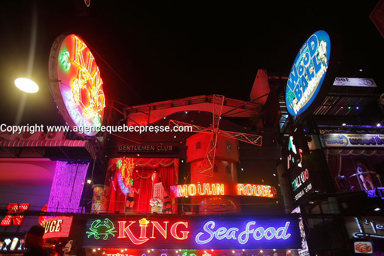 walking street<br />  in Pattaya, Thailand