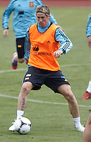 POLAND - Gniewino - 06 JUNE 2012 - Spain Training Session at Gniewino. Player Fernando Torres touching the ball.