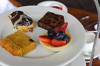 Cream Tea im Sommerville Hotel in St. Aubin, Insel Jersey, Kanalinseln