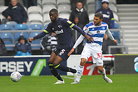 Fikayo Tomori of Derby County and Nahki Wells of Queens Park Rangers during Queens Park Rangers vs Derby County, Sky Bet EFL Championship Football at Loftus Road Stadium on 6th October 2018